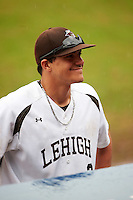 Lehigh Mountain Hawks second baseman Mike Garzillo (2) during a rain delay against the U-Mass Minutemen on March 19, 2016 at Chain of Lakes Stadium in Winter Haven, Florida.  The game was cancelled due to inclement weather.  (Mike Janes/Four Seam Images)