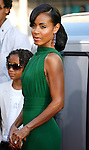 "Actress Jada Pinkett Smith arrives to The World Premiere of Columbia Pictures' ""Hancock"" at the Grauman's Chinese Theatre on June 30, 2008 in Hollywood, California."