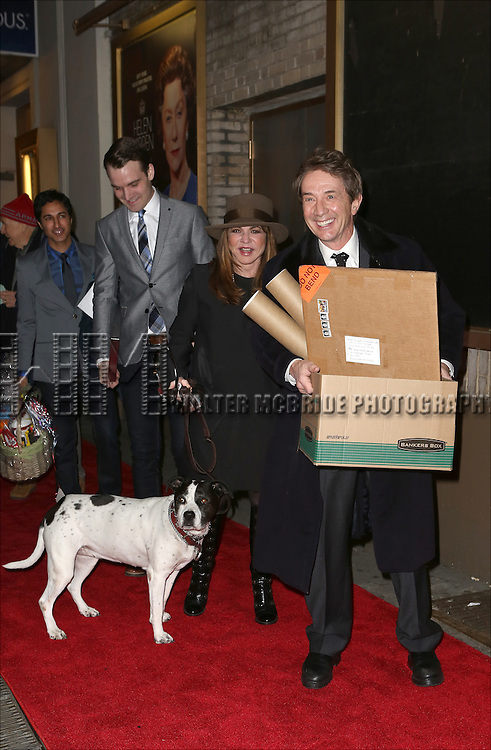 Stockard Channing, Martin Short and the cast from 'It's Only A Play' head to their new home at the Bernard B. Jacobs Theatre on January 23, 2014 in New York City.