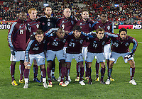 21 November 2010: Colorado Rapids Starting Eleven during the 2010 MLS Cup Final between the Colorado Rapids and FC Dallas at BMO Field in Toronto, Ontario Canada...