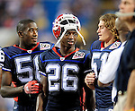 3 September 2009:  Buffalo Bills' cornerback Ashton Youboty (26) chats on the sidelines during a pre-season game against the Detroit Lions at Ralph Wilson Stadium in Orchard Park, New York. The Lions defeated the Bills 17-6...Mandatory Photo Credit: Ed Wolfstein Photo
