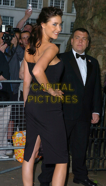 LISA SNOWDON.Glamour magazine's 3rd Annual Woman of the Year Awards Berkeley Square Gardens - Arrivals, London, UK. .June 6th, 2006 .Ref: CAN.HALF length black dress strapless looking over shoulder.www.capitalpictures.com.sales@capitalpictures.com.©Capital Pictures