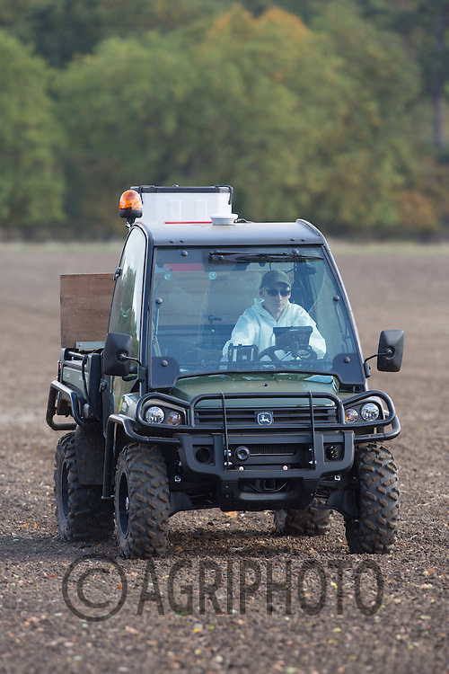 Applying slug pellets to Winter Wheat<br /> Picture Tim Scrivener 07850 303986<br /> tim@agriphoto.com<br /> &hellip;.covering agriculture in the UK&hellip;.