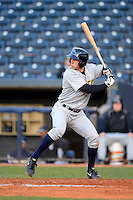 Trenton Thunder designated hitter Neil Medchill #34 during a game against the Akron Aeros on April 22, 2013 at Canal Park in Akron, Ohio.  Trenton defeated Akron 13-8.  (Mike Janes/Four Seam Images)