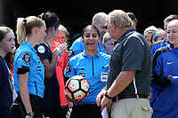 Cary, North Carolina  - Saturday June 03, 2017: Christina Unkel prior to a regular season National Women's Soccer League (NWSL) match between the North Carolina Courage and the FC Kansas City at Sahlen's Stadium at WakeMed Soccer Park. The Courage won the game 2-0.