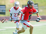 Palos Verdes, CA 03/26/16 - Lance Buckley (San Clemente #9) in action during the CIF Boys Lacrosse game between San Clemente Tritons and the Palos Verdes Seakings at Palos Verdes High School.  Palos Verdes defeated San Clemente 11-6