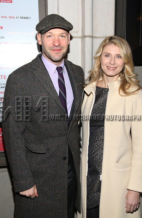 Corey Stoll and Nadia Bowers attend the Manhattan Theatre Club's Broadway debut of August Wilson's 'Jitney' at the Samuel J. Friedman Theatre on January 19, 2017 in New York City.