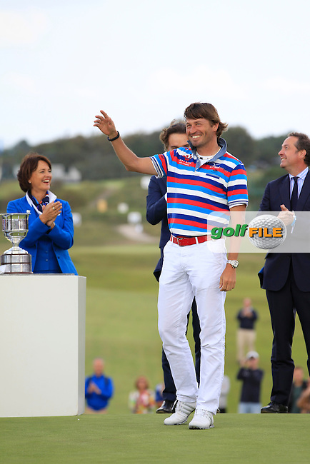 Robert-Jan Derkson (NED) retires from the European Tour during Round 4 of the KLM Open at Kennemer Golf &amp; Country Club on Sunday 14th September 2014.<br /> Picture:  Thos Caffrey / www.golffile.ie