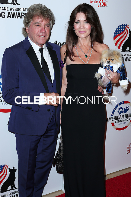 BEVERLY HILLS, CA, USA - SEPTEMBER 27: Ken Todd, Lisa Vanderpump and Giggy arrive at the 4th Annual American Humane Association Hero Dog Awards held at the Beverly Hilton Hotel on September 27, 2014 in Beverly Hills, California, United States. (Photo by Xavier Collin/Celebrity Monitor)