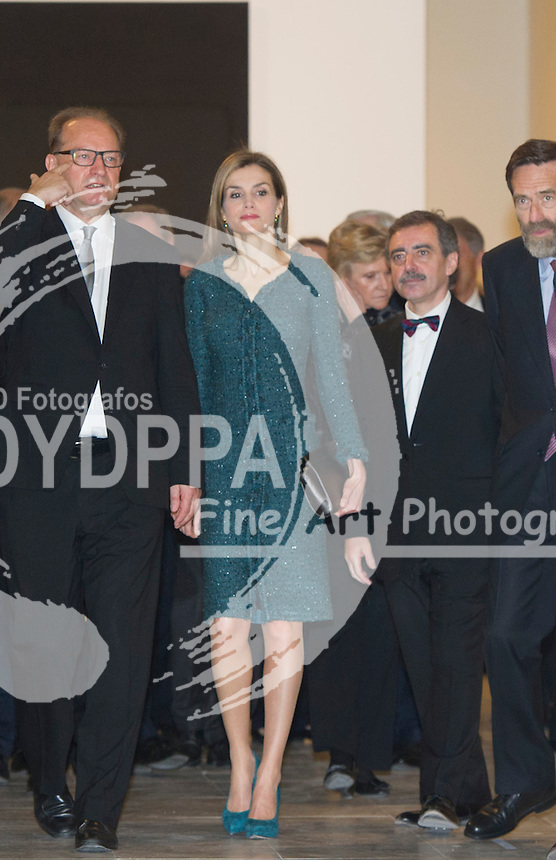 Queen of Spain Letizia Ortiz opens the KUNST Museum from Basilea exhibition at Reina Sofia Museum ( Queen Sofia Museum) in Madrid on March 17, 2015. Photo by Eduardo Dieguez/ DyD Fotografos-DYDPPA