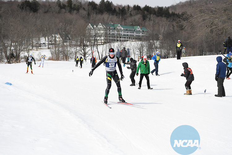 FRANCONIA, NH - MARCH 11:   Toomas Kollo of the University if Alaska Anchorage skates during the Men's 20K Freestyle event at the Division I Men's and Women's Skiing Championships held at Jackson Ski Touring on March 11, 2017 in Jackson, New Hampshire. (Photo by Gil Talbot/NCAA Photos via Getty Images)