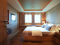All the guest cabins are fully equipped and decorated using natural materials
