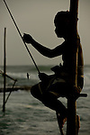 Stilt Fishermen in Galle, Sri Lanka