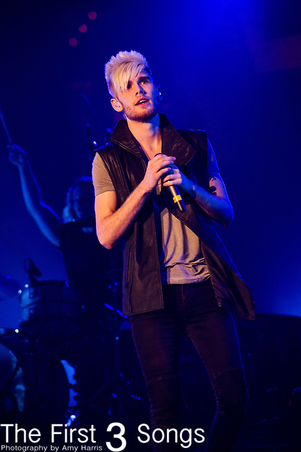 Colton Dixon performs during the 2014 Winter Jam Tour at the Wolstein Center in Cleveland, Ohio.