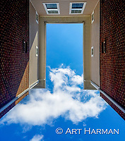 """Doorway to the Sky"" by Art Harman. This surreal view looks like a gateway--or a stargate-to another world. Dare you take a step forwards?"