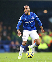 26th December 2019; Goodison Park, Liverpool, Merseyside, England; English Premier League Football, Everton versus Burnley; Fabian Delph of Everton looks up for a team mate as he controls the ball - Strictly Editorial Use Only. No use with unauthorized audio, video, data, fixture lists, club/league logos or 'live' services. Online in-match use limited to 120 images, no video emulation. No use in betting, games or single club/league/player publications