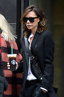 www.acepixs.com<br /> February 8, 2017 New York City<br /> <br /> Victoria Beckham seen in out and about in Manhattan on February 8, 2017 in New York City.<br /> <br /> Credit: Kristin Callahan/ACE Pictures<br /> <br /> <br /> Tel: 646 769 0430<br /> e-mail: info@acepixs.com