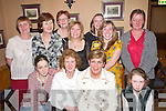 50TH: Bridget Cahillane, Glenbeigh (seated second from left) celebrates her 50th birthday in the Beaufort Bar last Friday night. Front row l-r: Sharon Cahillane, Bridget Cahillane, Sheila Foley and Lisa Cahillane. Back row l-r: Julie Cahillane, Christine Cahillane, Mary Cahillane, Eileen Cahillane, Tracy Cahillane, Micheala OSullivan and Kathleen Cahillane..