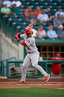 Peoria Chiefs Ivan Herrera (4) during a Midwest League game against the Fort Wayne TinCaps on July 17, 2019 at Parkview Field in Fort Wayne, Indiana.  Fort Wayne defeated Peoria 6-2.  (Mike Janes/Four Seam Images)