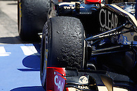 24.06.2012. Valencia, Spain. FIA Formula One World Championship 2012 Grand Prix of Europe Race.  The picture show Tires after race