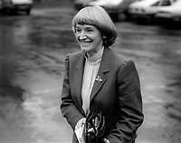 Eileen Lemass, TD, Fianna Fail, Rep of Ireland, arriving at Leinster House, Dublin, for the opening of a new parliament, 14th December 1982, following previous month&rsquo;s General Election. 198212140287EL1<br /><br />Copyright Image from Victor Patterson, 54 Dorchester Park, <br />Belfast, UK, BT9 6RJ<br /><br />t1: +44 28 9066 1296 (from Rep of Ireland 048 9066 1296)<br />t2: +44 28 9002 2446 (from Rep of Ireland 048 9002 2446)<br />m: +44 7802 353836<br /><br />victorpatterson@me.com<br />www.victorpatterson.com<br /><br />Please see my Terms and Conditions of Use at VICTORPATTERSON.COM. It is IMPORTANT that you familiarise yourself with them.<br /><br />Images used on the Internet must be visibly watermarked i.e. &copy;VICTORPATTERSON.COM within the body of the image and copyright metadata must not be deleted. Images used on the Internet have a size restriction of 4kbs and are chargeable at the then current NUJ rates.<br /><br />This image is only available for the use of the download recipient i.e. television station, newspaper, magazine, book publisher, etc, and must not be passed on to any third party. It is also downloaded on condition that each and every usage is notified within 7 days to victorpatterson@me.com<br /><br />The right of Victor Patterson to be identified as the author is asserted in accordance with The Copyright Designs And Patents Act (1988).