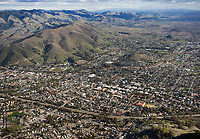 aerial photograph of San Luis Obispo, California