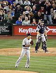 Masahiro Tanaka (Yankees), JUNE 11, 2014 - MLB : Pitcher Masahiro Tanaka of the New York Yankees reacts in the 8th inning during the Major League Baseball game against the Seattle Mariners at Safeco Field in Seattle, Washington, United States. (Photo by AFLO)