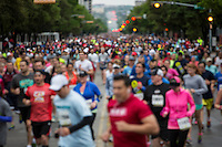 In its 37th year, the Cap 10K race takes place every spring in downtown Austin, Texas.