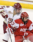 Alex Carpenter (BC - 5), Kaleigh Fratkin (BU - 13) - The visiting Boston University Terriers defeated the Boston College Eagles 4-1 on Wednesday, November 2, 2011, at Kelley Rink in Conte Forum in Chestnut Hill, Massachusetts.