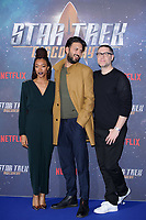 "Sonequa Martin-Green, Shazad Latif and producer, Aaron Harbets<br /> at the ""Star Trek Discovery"" photocall, Millbank Tower,  London<br /> <br /> <br /> ©Ash Knotek  D3347  05/11/2017"