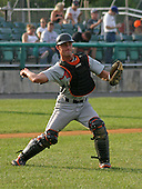 August 16, 2003:  Morgan Clendenin of the Aberdeen Ironbirds, Class-A affiliate of the Baltimore Orioles, during a game at Falcon Park in Auburn, NY.  Photo by:  Mike Janes/Four Seam Images