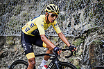 The peloton including Yellow Jersey Egan Bernal (COL) Team Ineos during Stage 20 of the 2019 Tour de France running 59.5km from Albertville to Val Thorens, France. 27th July 2019.<br /> Picture: ASO/Pauline Ballet | Cyclefile<br /> All photos usage must carry mandatory copyright credit (© Cyclefile | ASO/Pauline Ballet)