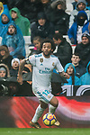 Marcelo Vieira Da Silva of Real Madrid in action during the La Liga 2017-18 match between Real Madrid and Villarreal CF at Santiago Bernabeu Stadium on January 13 2018 in Madrid, Spain. Photo by Diego Gonzalez / Power Sport Images