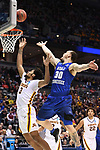 MILWAUKEE, WI - MARCH 16:  Minnesota Gophers forward Jordan Murphy (3) and Middle Tennessee Blue Raiders forward Reggie Upshaw (30) go up for a rebound during the second half of the 2017 NCAA Men's Basketball Tournament held at BMO Harris Bradley Center on March 16, 2017 in Milwaukee, Wisconsin. (Photo by Jamie Schwaberow/NCAA Photos via Getty Images)