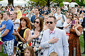 Guests attend the annual Easter Egg Roll on the South Lawn of the White House  in Washington, DC, on April 17, 2017. <br /> Credit: Olivier Douliery / Pool via CNP
