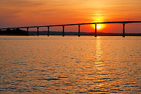 Solomons Island looking out to the Governor Thomas Johnson Bridge on Rt. 4. This bridge, connecting Calvert and St. Mary's County, is over 140 feet high with only a jersey wall separating you from the 120 foot deep Patuxant River below.