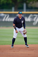 New York Yankees Andres Chaparro (39) during a Minor League Spring Training game against the Atlanta Braves on March 12, 2019 at New York Yankees Minor League Complex in Tampa, Florida.  (Mike Janes/Four Seam Images)