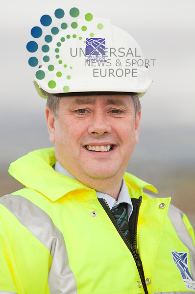 Head shot,Transport Minister Keith Brown at theThe Moodiesburn Bypass, from Hornshill to Mollinsburn, is part of the scheme to upgrade an 11-mile stretch of the A80(M) between Stepps and Haggs, which has been built as part of the £320m M80 upgrade project .Picture, Johnny Mclauchlan/Universalnews,08/02/11