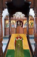 CYPRUS, Protaras: icons inside of chapel of prophet Ilias Thesvitis<br />