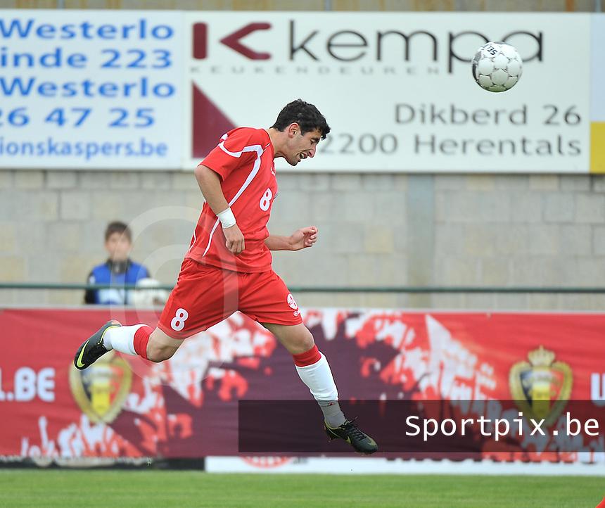 Scotland U19 - Georgia U19 : Avto Endeladze.foto DAVID CATRY / Nikonpro.be