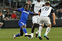 Kia Kamara, Pat Phelan #28...Kansas City Wizards defeated New England Revolution 4-1 at Community America Ballpark, Kansas City, Kansas.