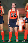 23 September 2016: Syracuse's Elaine Carey (IRL). The University of North Carolina Tar Heels hosted the Syracuse University Orange at Francis E. Henry Stadium in Chapel Hill, North Carolina in a 2016 NCAA Division I Field Hockey match. UNC won the game 3-2 in two overtimes.