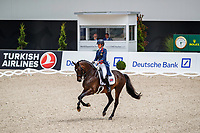 GBR-Charlotte Dujardin rides Erlentanz during the Pries der Failie Tesch: Grand Prix CDIO5* - 1st Stage Lambertz Nations' Cup. Final-3rd. 2019 GER-CHIO Aachen Weltfest des Pferdesports. Thursday 18 July. Copyright Photo: Libby Law Photography
