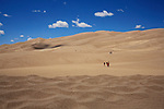 People on the dunes at Great Sand Dunes National Park and Preserve, Colorado, USA