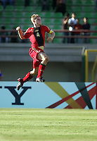 Florian Jungwirth celebrates, FIFA Under 20 World Cup Group C Match between the United States and Germany at the Mubarak Stadium on September 26, 2009 in Suez, Egypt. The US team lost to Germany 3-0.