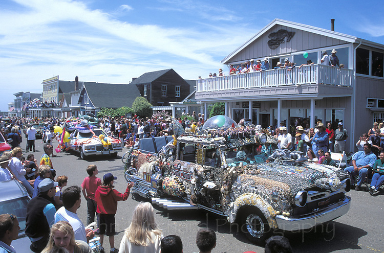 Fourth of July Parade on Main Street, Mendocino California