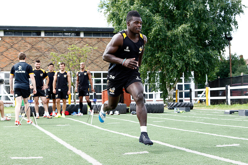 Photo: Richard Lane/Richard Lane Photography. Wasps Pre Season Training. 08/07/2014. Christian Wade.