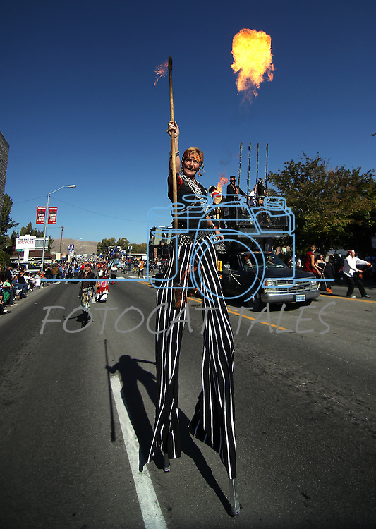 The Controlled Burn fire performers entertain the crowd at the annual Nevada Day Parade in Carson City, Nev., on Saturday, Oct. 28, 2011..Photo by Cathleen Allison