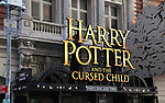Theatre Marquee for the Broadway Opening Day performance of 'Harry Potter and the Cursed Child Parts One and Two' at The Lyric Theatre on April 22, 2018 in New York City.