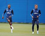 28.08.2019 Rangers training: Jermain Defoe and James Tavernier